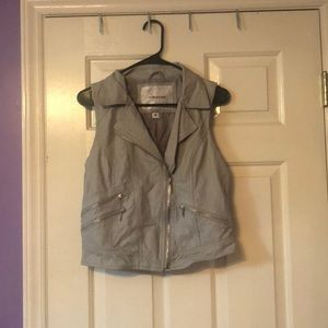 leather-like vest from Maurice's